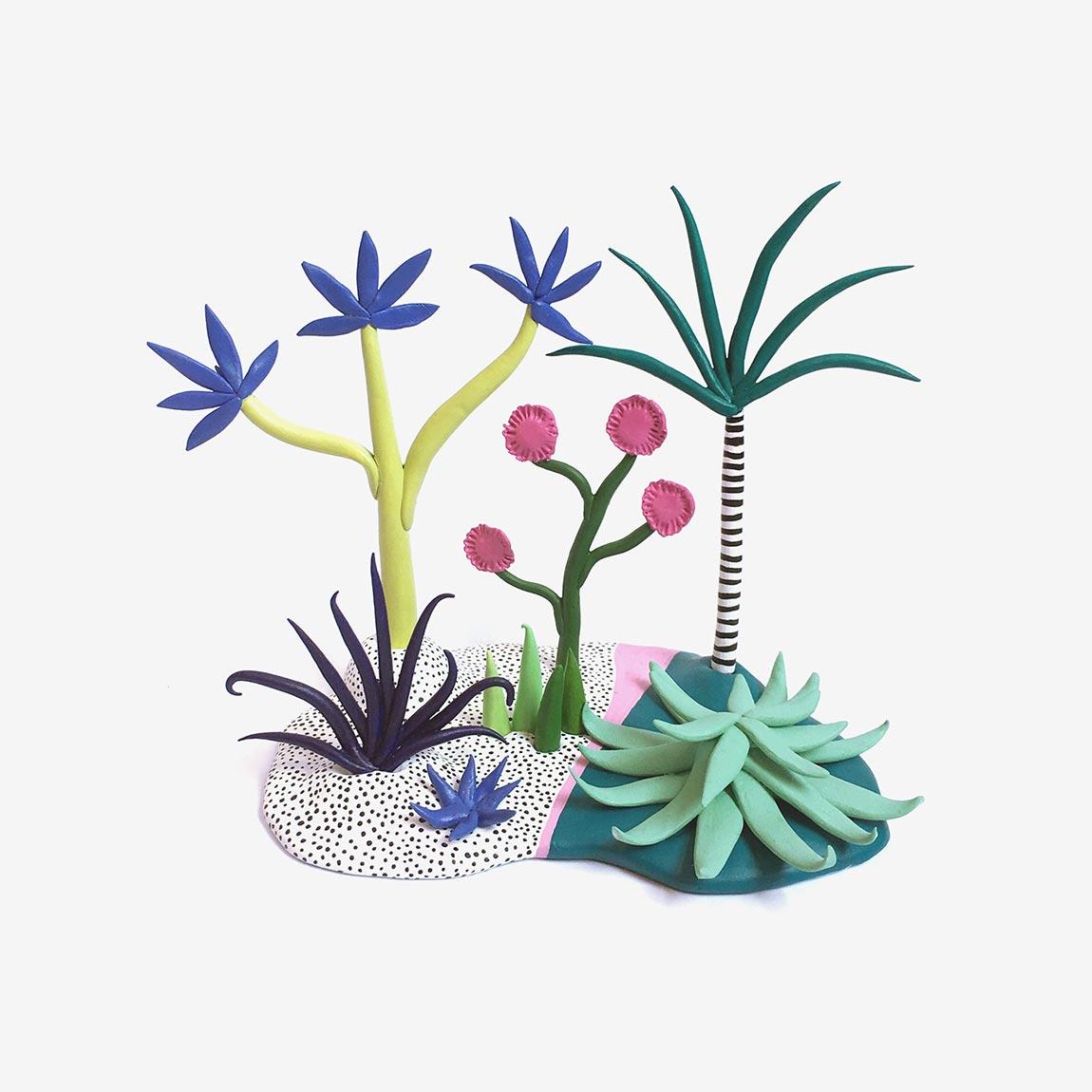 Необычные растения из полимерной глины - Фото 9
