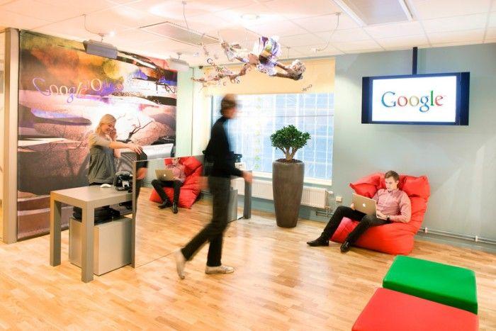 Место для ожидания в компании Google