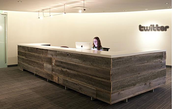 Приёмная офиса Twitter