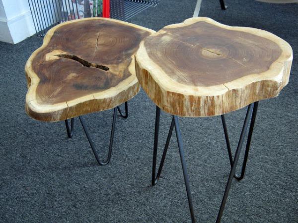 Мебель из среза дерева