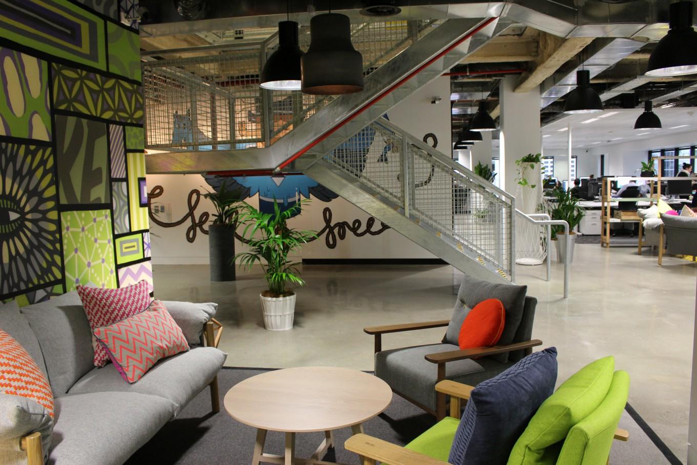 Прекрасная зона отдыха для персонала компании Facebook