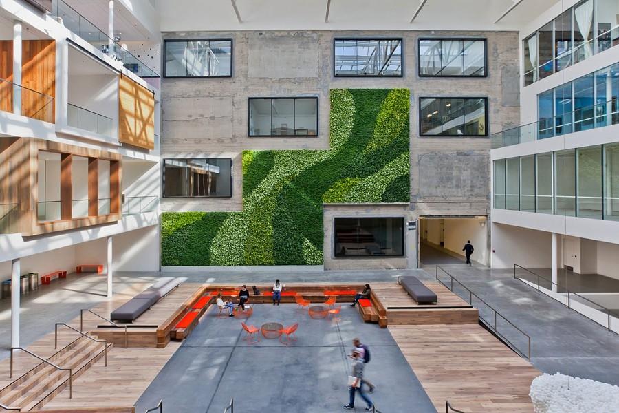 Прекрасная зона отдыха для персонала компании Airbnb