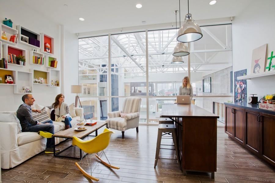 Удивительная зона отдыха для персонала компании Airbnb