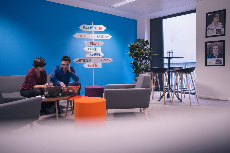 Прекрасная зона отдыха для персонала компании BlaBlaCar