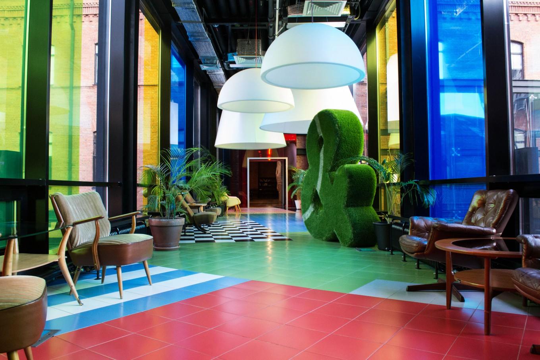 Чудесная зона отдыха для персонала знаменитой компании Rambler&Co