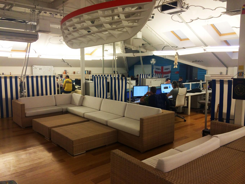 Замечательная зона отдыха для персонала знаменитой компании Rambler&Co
