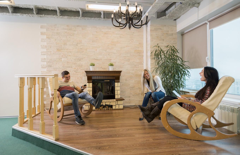Изысканная зона отдыха для персонала знаменитой компании 2Гис