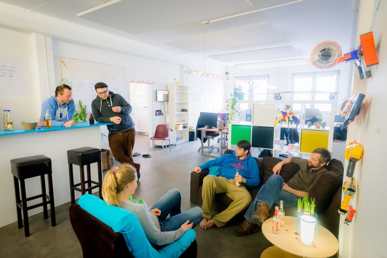 Интересная зона отдыха для персонала знаменитой компании Jimdo