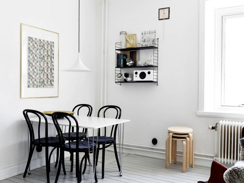 Великолепный дизайн интерьера столовой в скандинавском дизайне
