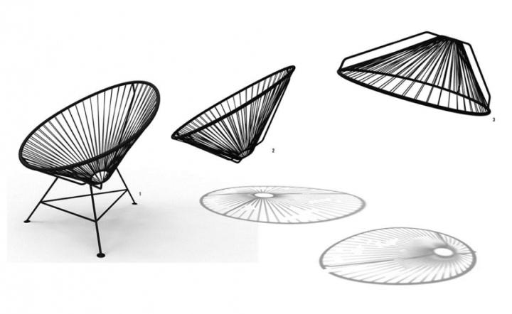 Схема превращения кресла в светильник