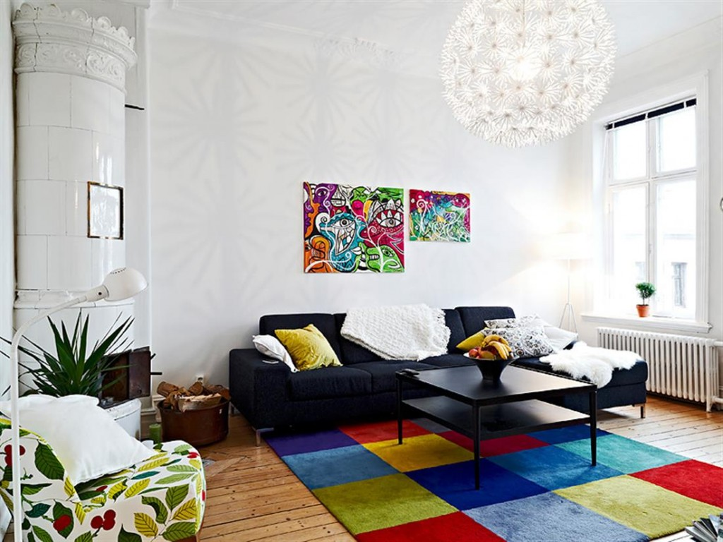 The color scheme in the interior design of the house