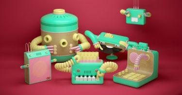 Роботы-музыканты: кадры из клипа «Robot & The Robots» от студии Animade