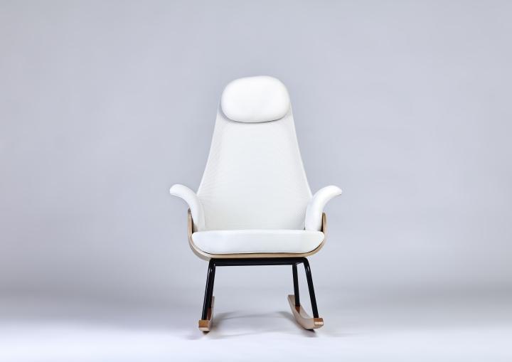 Высокая спинка кресло-качалка