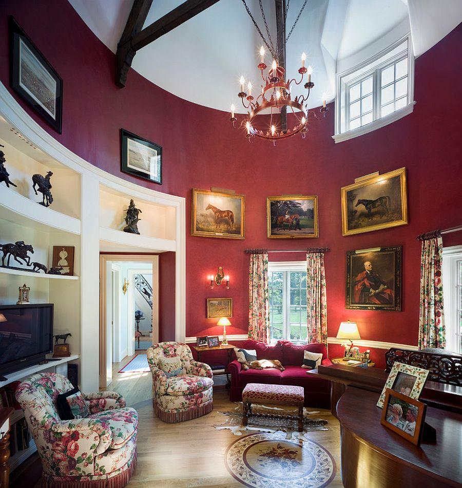 Викторианский стиль в интерьере, где преобладает тёмно-фиолетовый оттенок