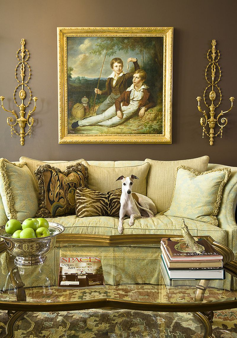 Викторианский стиль в интерьере: картина в позолоченной раме