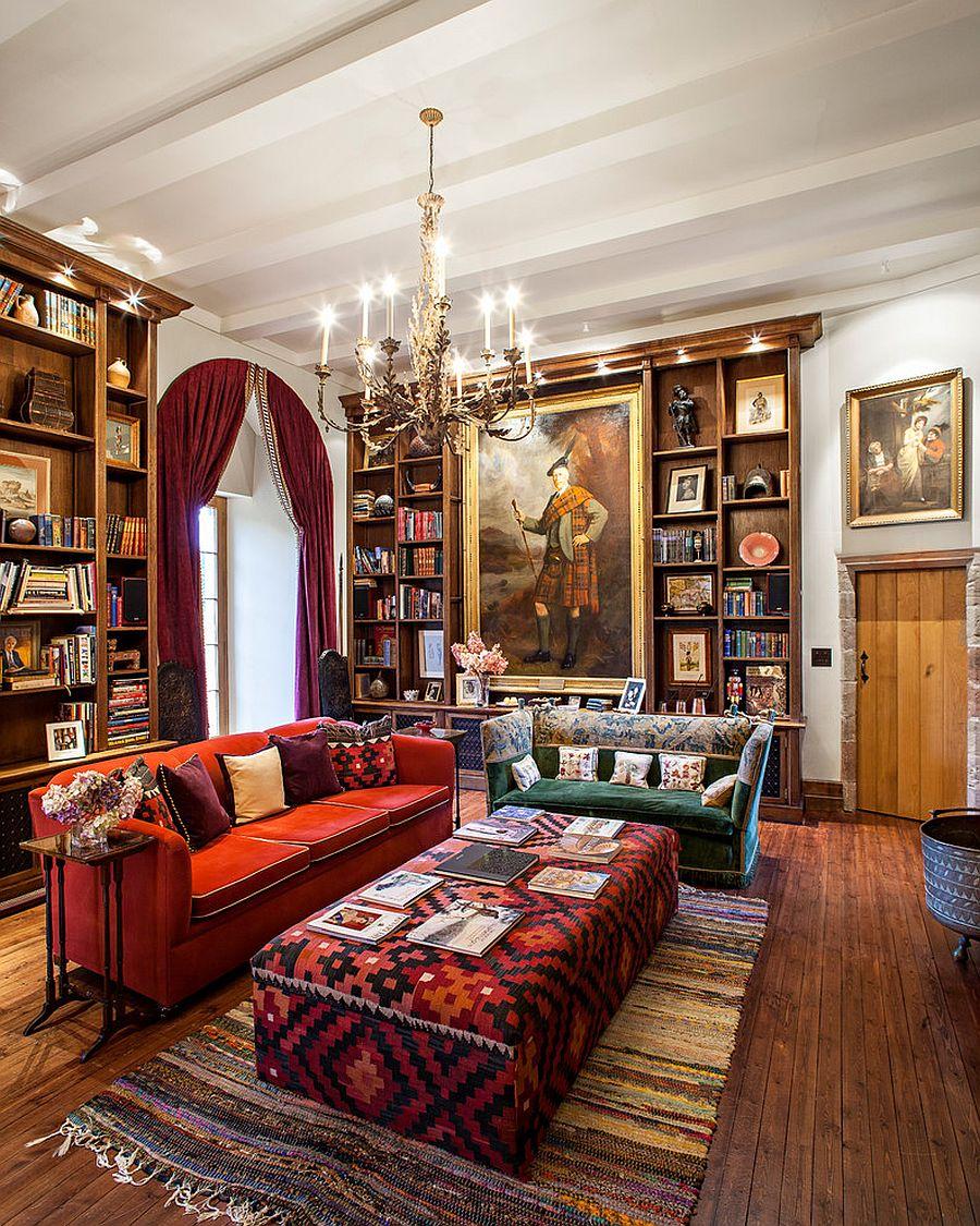 Викторианский стиль в интерьере: изысканная люстра