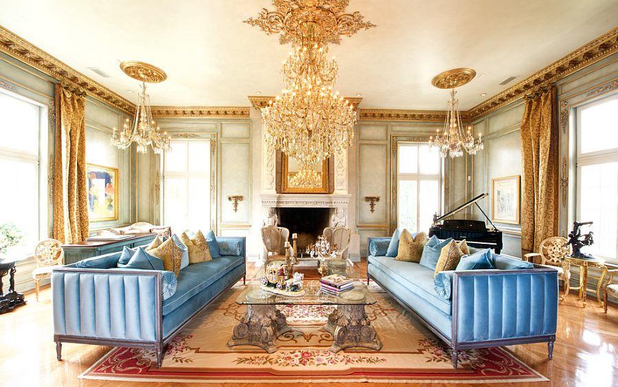 Викторианский стиль в интерьере: много позолоты