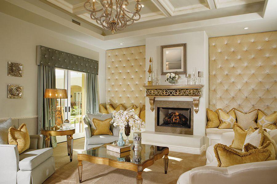 Викторианский стиль в интерьере: даже камин в позолоте