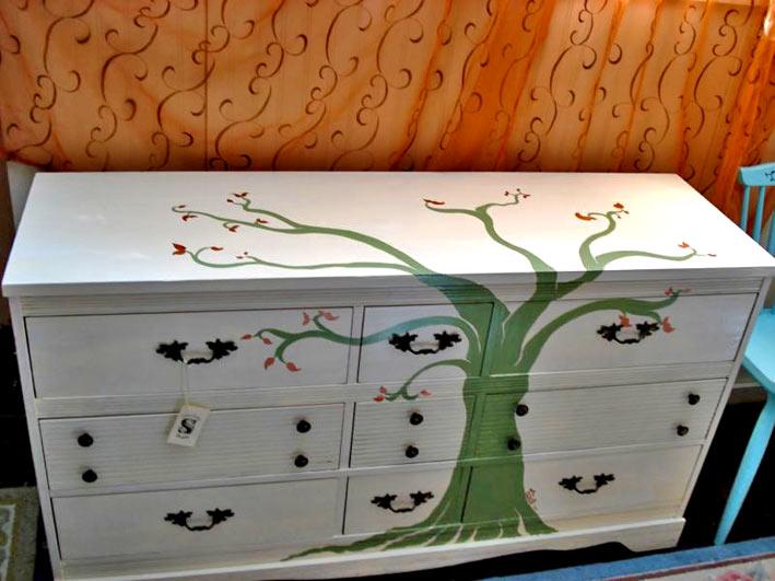 Перекрасить мебель своими руками фото