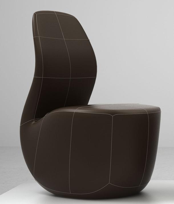 Кожаное кресло Pipe