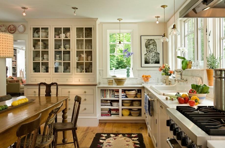 Дизайн кухни в деревенском стиле в интерьере