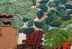Комнатные растения в интерьерах, вышитые в оригинальной технике рукоделия от Сары К. Беннинг