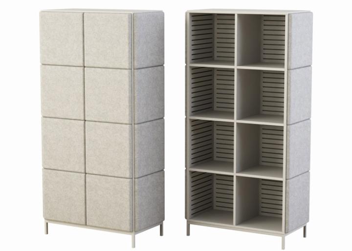 Креативные системы хранения в виде войлочных блоков