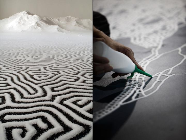 Великолепная картина из соли Motoi Yamamoto