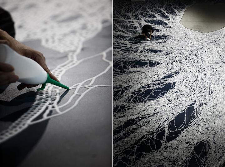 Прекрасная техника исполнения картины из соли Motoi Yamamoto