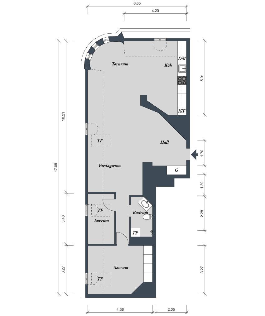 План-схема квартиры в скандинавском стиле