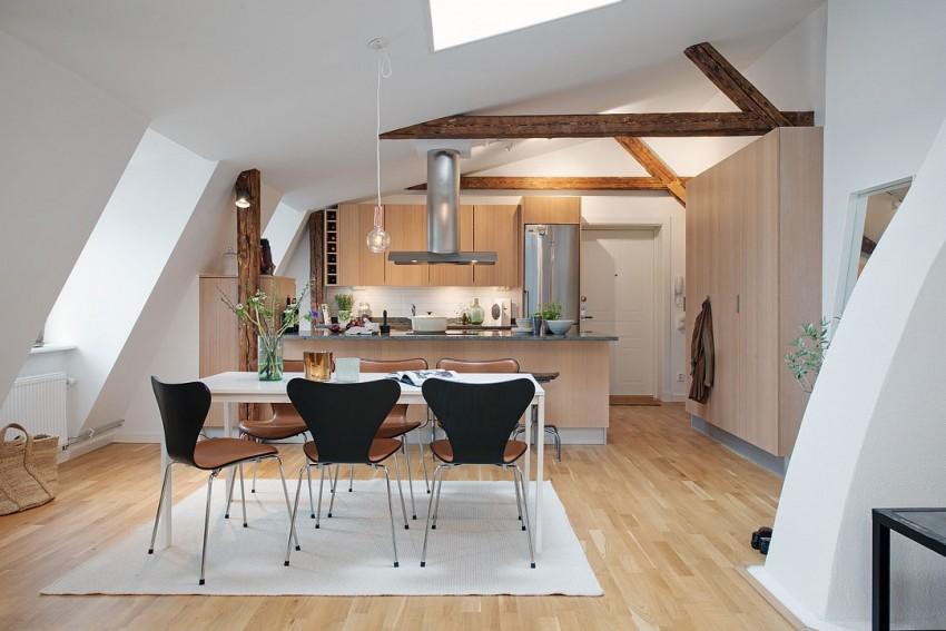 Скандинавский дизайн интерьера квартиры в Швеции