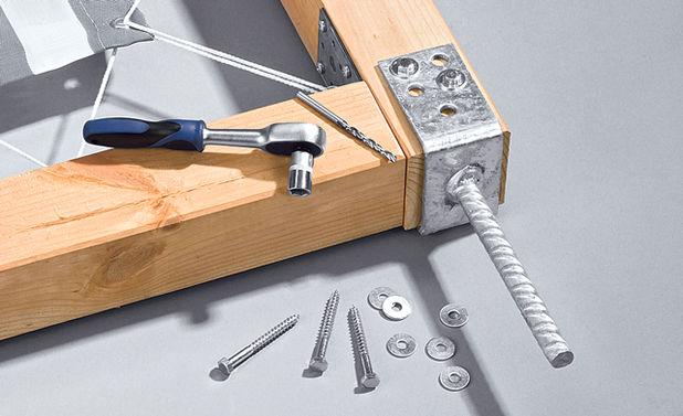 Прикручивания ножек на каркас ширмы