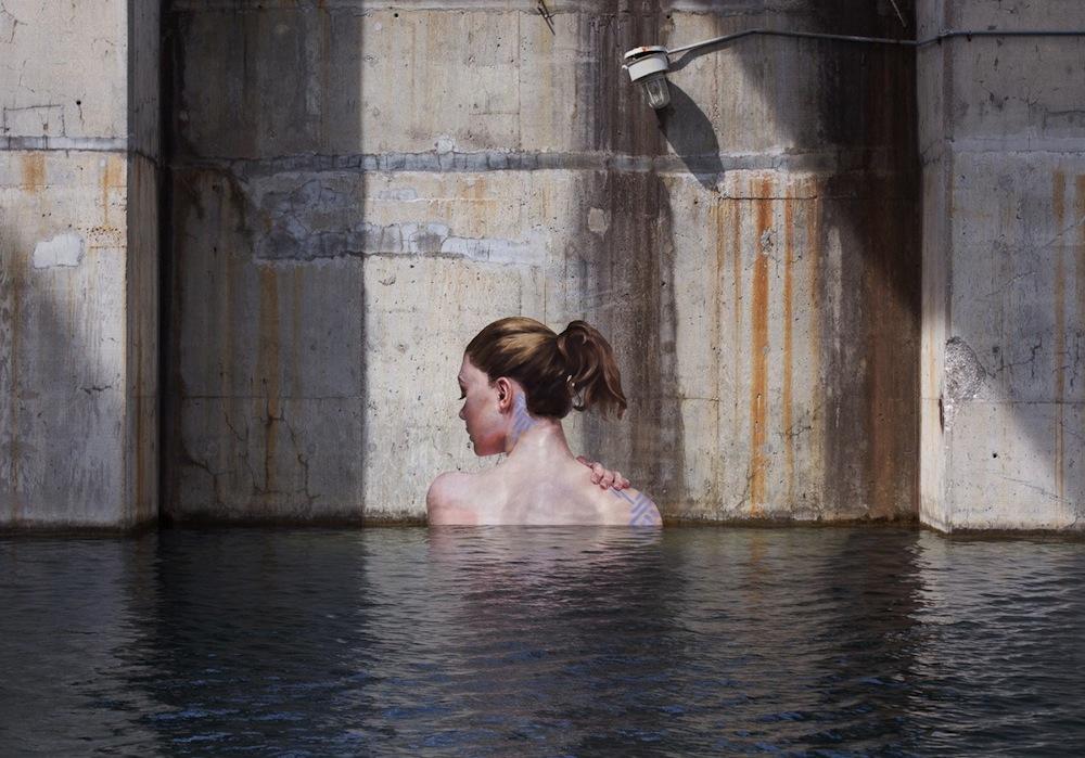 Фрески на бетонных стенах от Шона Йоро