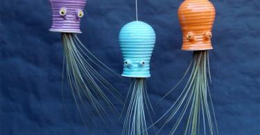 Синди и Джеймс Сирлзы: керамические кашпо для эпифитов в виде забавных головоногих