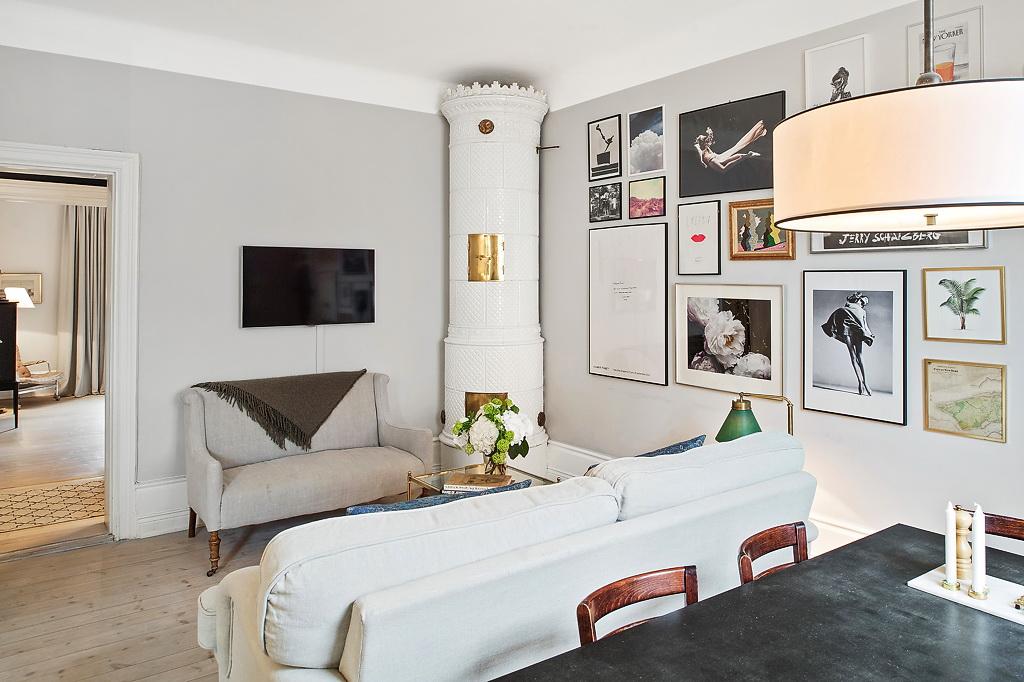 Уютный скандинавский интерьер квартиры