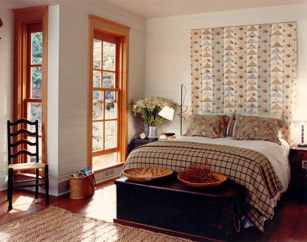 Оформление спальной комнаты с применением дерева