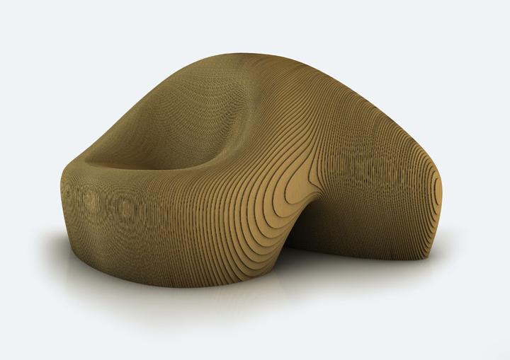 Красивый фигурный стул от Simone Carminati