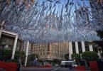 Жидкий осколок: арт-инсталляция из майлара в центре Лос-Анджелеса