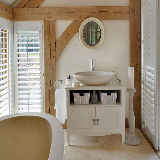 Шкаф для ванной в стиле рустик