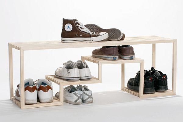 Дизайнерские полки для обуви