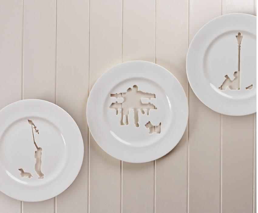 Тарелки с вырезами