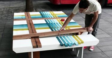 Plaid Bench – скамья-«плед»от Yael Mer и Shay Akalay