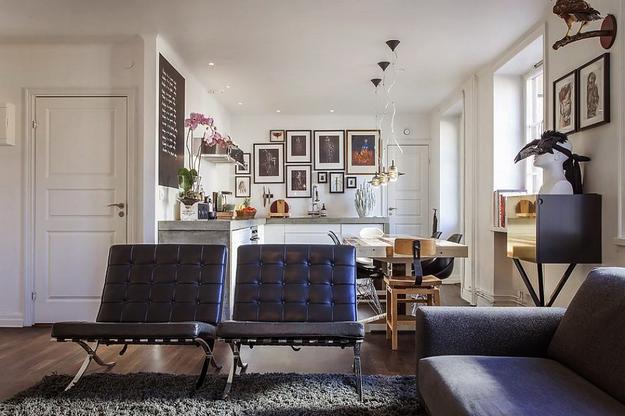 Квартира на 66 квадратных метрах в скандинавском стиле