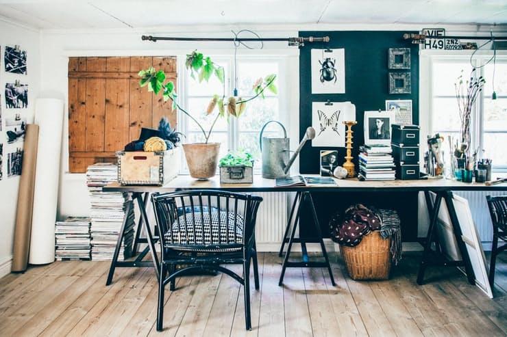 Скандинавский стиль в интерьере квартиры: чёрно-белые стены