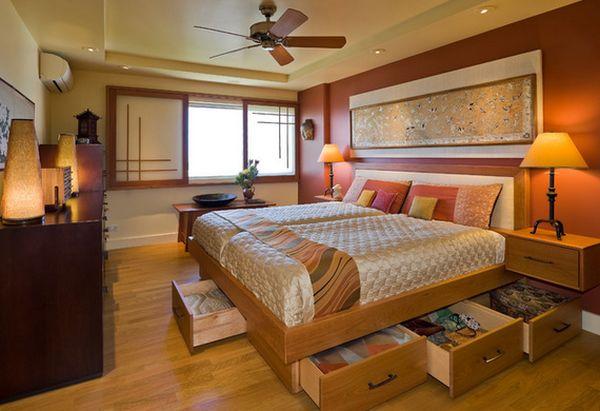 Шикарный под кроватный ящик для хранения вещей в спальне