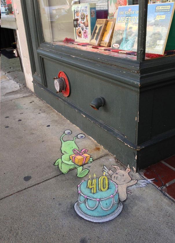 Рисунок в стиле стрит-арт в штате Мичиган, США