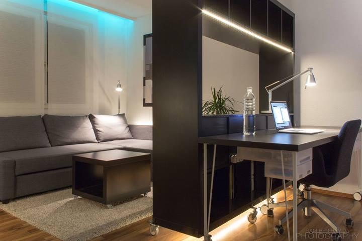 Рабочий стол с подсветкой