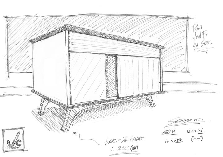 Иллюстрация дизайнерской тумбы