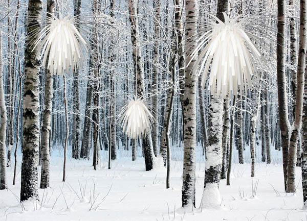 Замечательные подвесные люстры Snowflower в интерьере