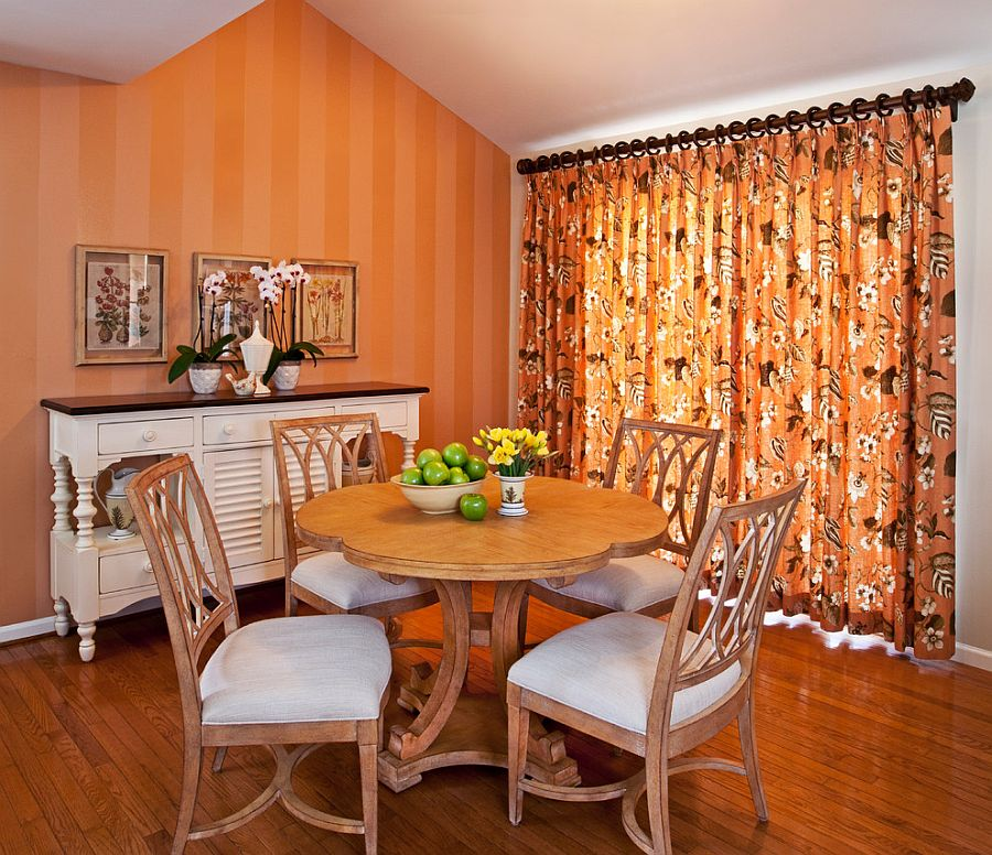 Теплое сочетание оранжевого цвета в интерьере вашего дома